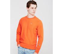 Classic Reverse Weave Crew Sweatshirt Orange