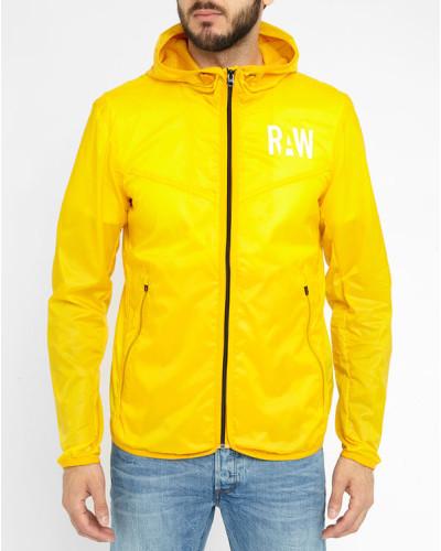 g star raw herren gelbe regenjacke packable reduziert