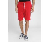 Rote Molton-Shorts Loose