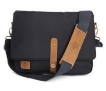 Messenger Bag aus Nylon in Marineblau