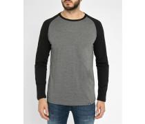 Schwarzes Langarm-T-Shirt mit Raglanärmeln Louis
