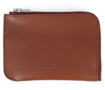 Leder-Portemonnaie Penny in Braun mit Reißverschluss