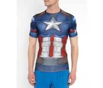 Kompressions-T-Shirt Captain America Full Suit