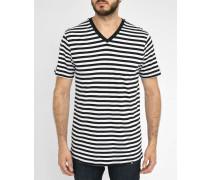 Gestreiftes T-shirt Thomas weiß - schwarz