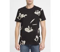 Schwarzes T-Shirt Bugs Bunny