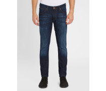 Dunkle Slim-Jeans Tapered Larston