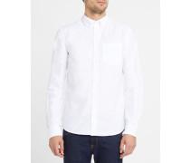 Weißes Oxford-Hemd Anton