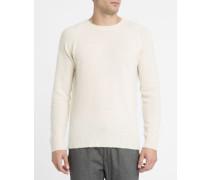 Pullover aus Shetland-Wolle in Ecru