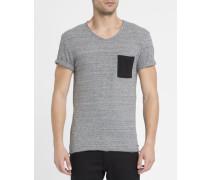 Graumeliertes T-Shirt Babico