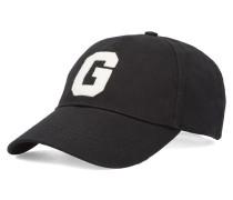Schwarze Baseballmütze aus Baumwolle G