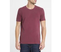 T-Shirt mit Rundhalsausschnitt Odamint in Vintage-Bordeaux