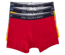 Dreierpack Boxershorts in Gelb, Blau und Rot