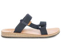 Blaue Sandalen Universal Slide Leather