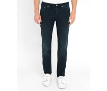 Blaue Jeans Tapered Overdyed