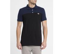 Blau-schwarzes Poloshirt Two Tone