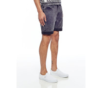 High Cut Shorts Black Format in Skinny Fit