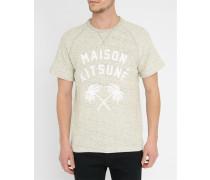 Graues T-ShirtInside Out Palm Print