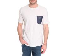 T-Shirt graumeliert Tasche denim Seba