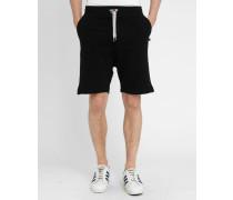 Molton-Shorts Back Number in Schwarz Loose