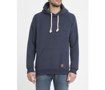 Hoodie Basic Angelo in Marineblau