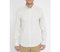 Weißes kleingemustertes Hemd