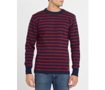 Matrosenpullover Fouesnant aus Wolle in Marineblau und Rot