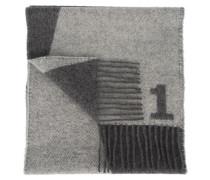 Schal mit Ziffer Grau