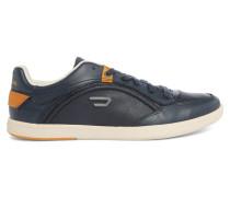 Marineblaue niedrige Sneaker aus Leder Starch