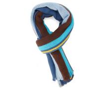Blauer Strickschal aus Wolle Oversize