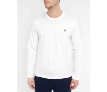 Pyjama T-Shirt weiß langärmlig