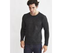 Mens Knitted Pullover Jumper Black