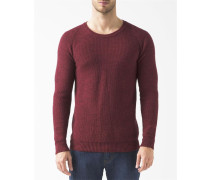 Pullover Runder Kragen William Masche in Wabenform Bordeaux
