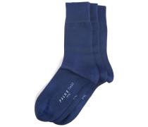 Dreierpack Socken aus Baumwolle Indigoblau TIAGO