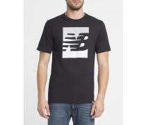 Schwarzes T-Shirt Split Sport Style
