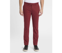 Rote Chino-Slim-Stretchhose Kensington