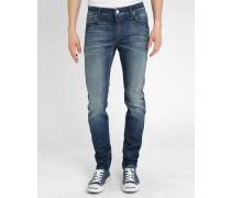Blaue Slim-Jeans Stone washed