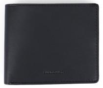 Schwarzes Leder-Portemonnaie Bill