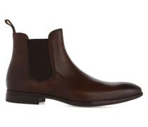 Chelsea Boots aus braunem Glattleder