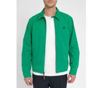 Grüne Chino-Jacke mit Hemdkragen