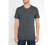 Graumeliertes Pocket-T-Shirt