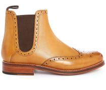 Cognacfarbene Boots Jacob mit Rosette auf der Schuhspitze