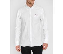 White Tricolour Oxford Fox Patch Shirt