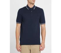 Slim-Poloshirt Classic Oxford in Blau und Schwarz