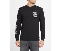 Langärmeliges schwarzes T-Shirt Van Doren