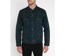 Blaue Trucker-Jacke aus Denim
