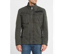 Jacke mit mehreren Taschen Rovic Overshirt in Khaki