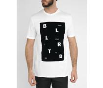 Weißes T-Shirt mit schwarzem Siebdruck Jam