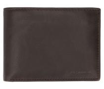 Portemonnaie aus braunem Leder Gary