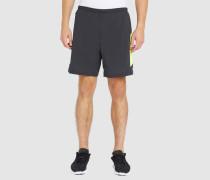 2-in-1-Shorts 7' Poursuite in Schwarz und Gelb