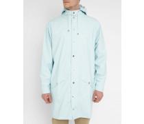 Regenmantel mit Kapuze Einfarbig Blau Long Jacket